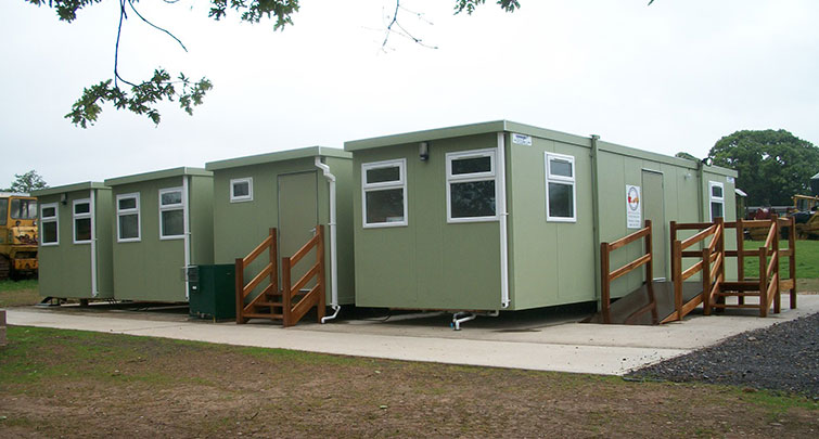Concept Accommodation - Mulitple Portable Building Installation